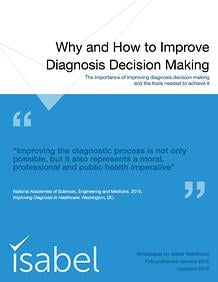 Get the White Paper on diagnosis decision making!