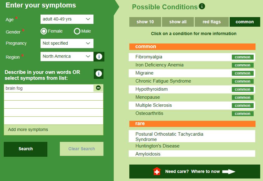 Symptom Information: brain fog - what is brain fog?